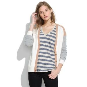 Madewell Journal colorblock merino wool cardigan